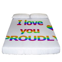 Proudly Love Fitted Sheet (california King Size)