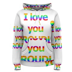Proudly love Women s Pullover Hoodie