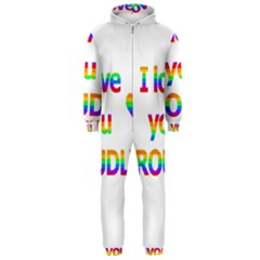 Proudly love Hooded Jumpsuit (Men)