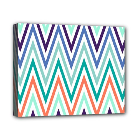 Chevrons Colourful Background Canvas 10  x 8