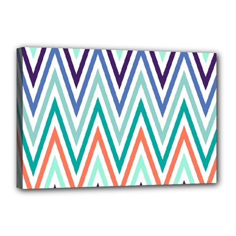 Chevrons Colourful Background Canvas 18  x 12