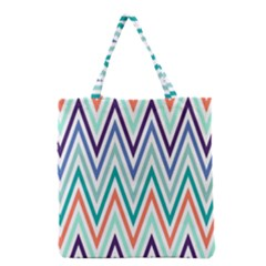Chevrons Colourful Background Grocery Tote Bag