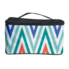 Chevrons Colourful Background Cosmetic Storage Case