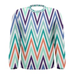 Chevrons Colourful Background Men s Long Sleeve Tee
