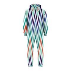 Chevrons Colourful Background Hooded Jumpsuit (Kids)
