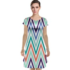 Chevrons Colourful Background Cap Sleeve Nightdress