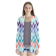 Chevrons Colourful Background Cardigans