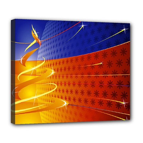 Christmas Abstract Deluxe Canvas 24  x 20