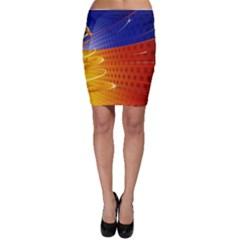 Christmas Abstract Bodycon Skirt