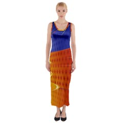 Christmas Abstract Fitted Maxi Dress