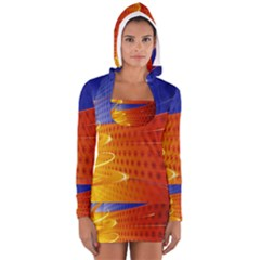 Christmas Abstract Women s Long Sleeve Hooded T-shirt
