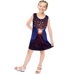 Christmas Volcano Kids  Tunic Dress