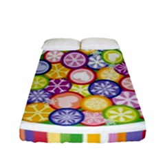 Christmas Tree Colorful Fitted Sheet (Full/ Double Size)