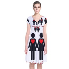 Be my Valentine 2 Short Sleeve Front Wrap Dress