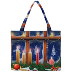 Christmas Lighting Candles Mini Tote Bag