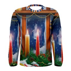 Christmas Lighting Candles Men s Long Sleeve Tee