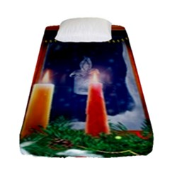 Christmas Lighting Candles Fitted Sheet (Single Size)