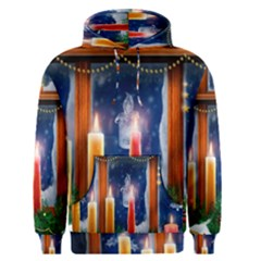 Christmas Lighting Candles Men s Pullover Hoodie