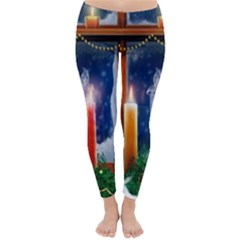 Christmas Lighting Candles Classic Winter Leggings