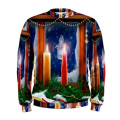 Christmas Lighting Candles Men s Sweatshirt