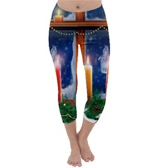 Christmas Lighting Candles Capri Winter Leggings