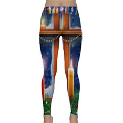 Christmas Lighting Candles Classic Yoga Leggings