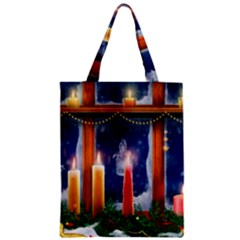 Christmas Lighting Candles Zipper Classic Tote Bag