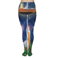 Christmas Lighting Candles Women s Tights