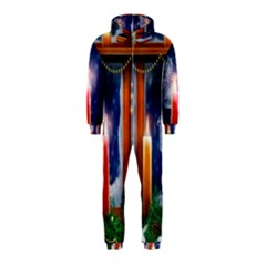 Christmas Lighting Candles Hooded Jumpsuit (Kids)