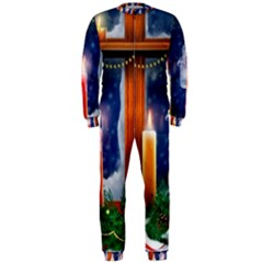 Christmas Lighting Candles OnePiece Jumpsuit (Men)