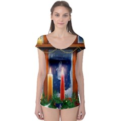 Christmas Lighting Candles Boyleg Leotard