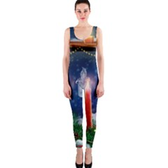 Christmas Lighting Candles OnePiece Catsuit