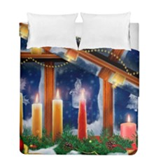 Christmas Lighting Candles Duvet Cover Double Side (Full/ Double Size)