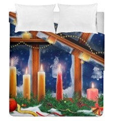 Christmas Lighting Candles Duvet Cover Double Side (Queen Size)