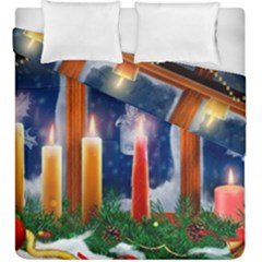 Christmas Lighting Candles Duvet Cover Double Side (King Size)