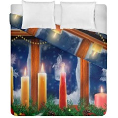 Christmas Lighting Candles Duvet Cover Double Side (California King Size)