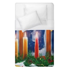 Christmas Lighting Candles Duvet Cover (Single Size)
