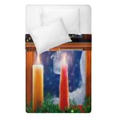 Christmas Lighting Candles Duvet Cover Double Side (Single Size)