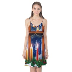 Christmas Lighting Candles Camis Nightgown