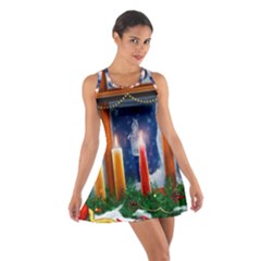 Christmas Lighting Candles Cotton Racerback Dress