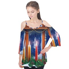 Christmas Lighting Candles Flutter Tees