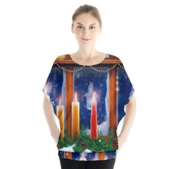Christmas Lighting Candles Blouse