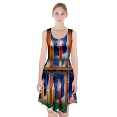 Christmas Lighting Candles Racerback Midi Dress