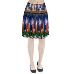 Christmas Lighting Candles Pleated Skirt