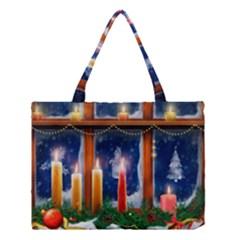 Christmas Lighting Candles Medium Tote Bag