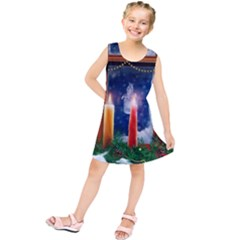 Christmas Lighting Candles Kids  Tunic Dress