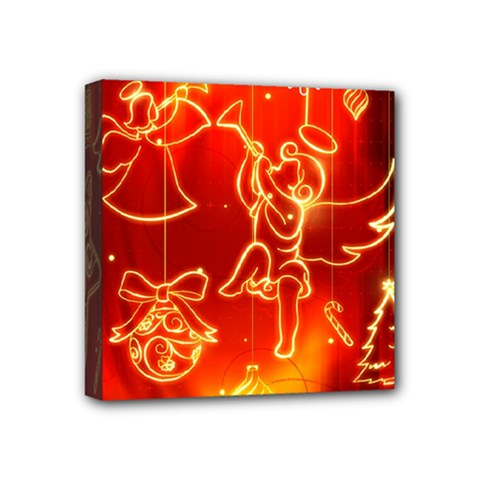 Christmas Widescreen Decoration Mini Canvas 4  x 4