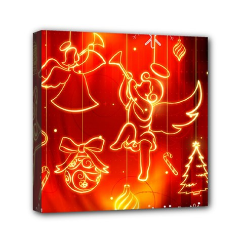 Christmas Widescreen Decoration Mini Canvas 6  x 6