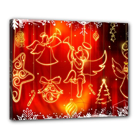 Christmas Widescreen Decoration Canvas 20  x 16