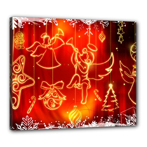 Christmas Widescreen Decoration Canvas 24  x 20